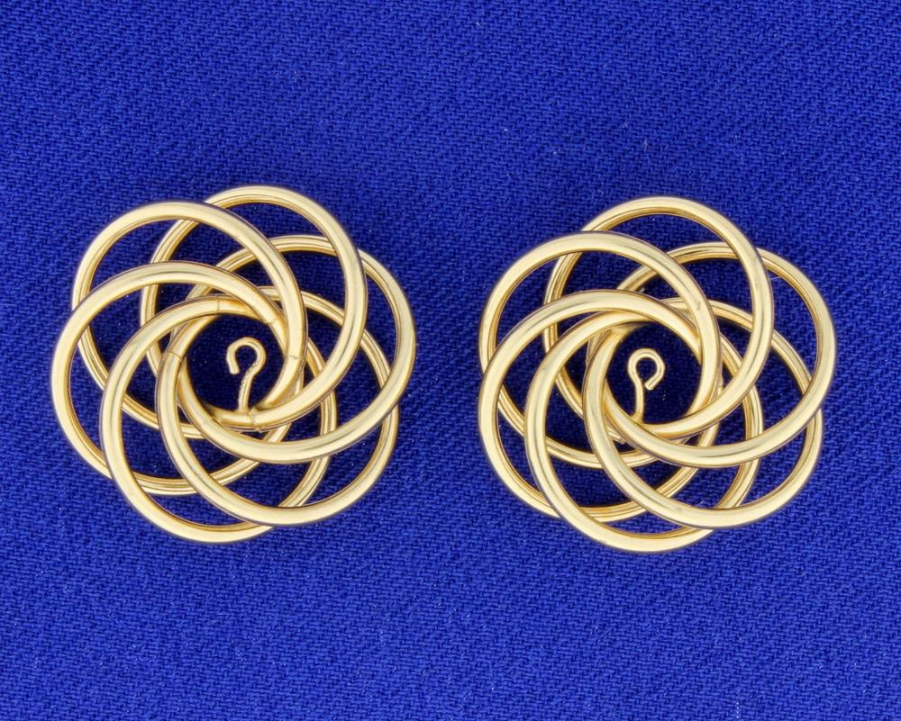 Gold Stud Enhancers in 14k Yellow Gold