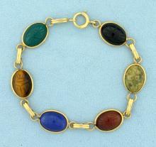 14k Vintage Scarab Bracelet