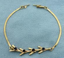 Sapphire Bracelet in 14K Yellow Gold