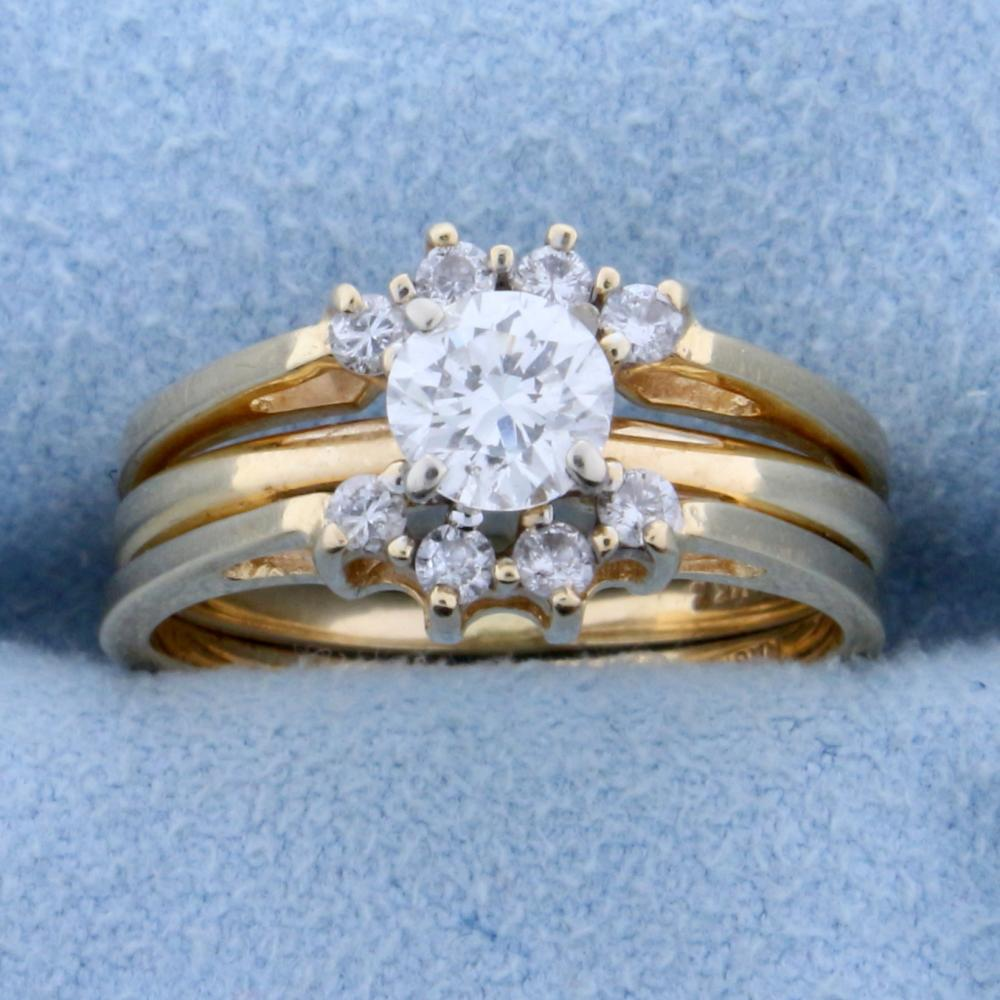 3/4ct TW Diamond Engagement Ring with Ring Jacket