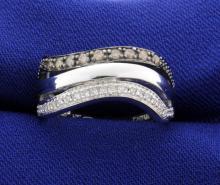 1/3ct TW Chocolate and White Diamond Ring