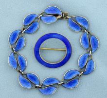 David Andersen Bracelet and Norwegian Made Matching Pin
