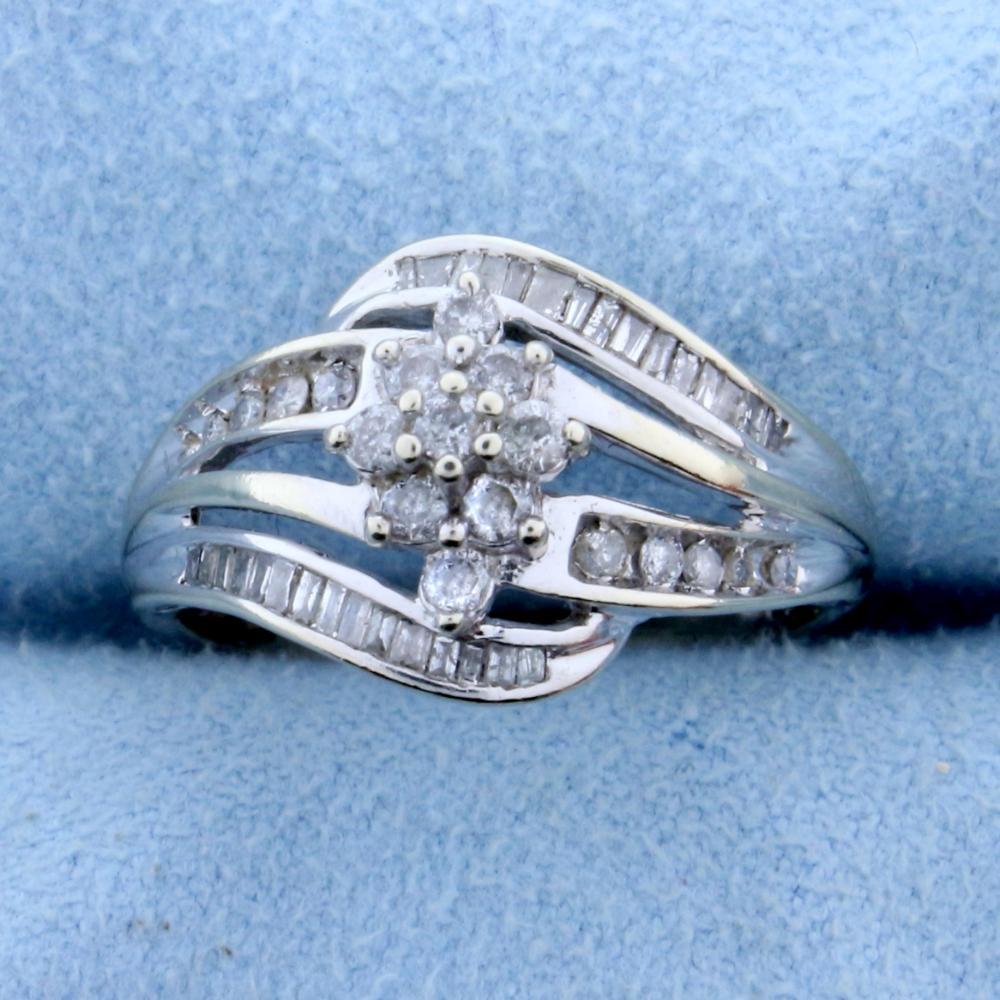 .6ct TW Diamond Ring in 10k White Gold