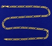 20 Inch Figaro Link Neck Chain in 14k Gold