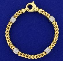 Designer Diamond Bracelet in 18k Gold