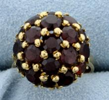 4ct TW Italian Made Garnet Ring in 18K Gold