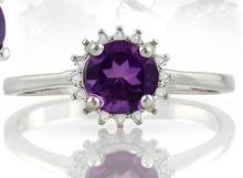 Starburst Amethyst Ring in Sterling Silver
