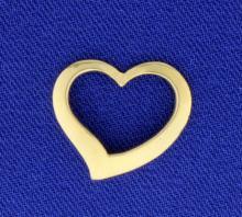14K Gold Heart Slide or Pendant