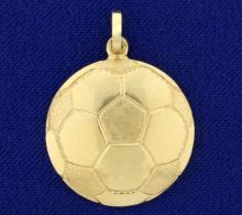 Soccer Ball Pendant in 14K Yellow Gold