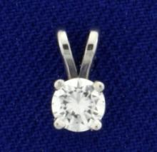 1/3ct Diamond Pendant in 14K White Gold