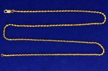 Unique 25 Inch Triangle Link Neck Chain