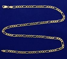 18 Inch Figaro Style Neck Chain