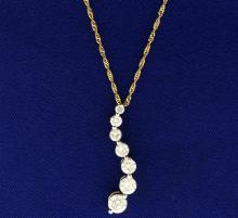 1.8ct TW Diamond Journey Pendant with Chain