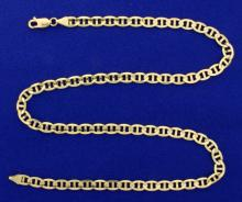 Italian Made Anchor or Mariner 20 1/2 Inch Neck Chain