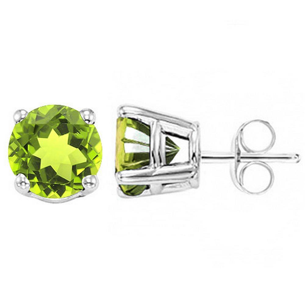 6MM Peridot Stud Earrings in Sterling Silver