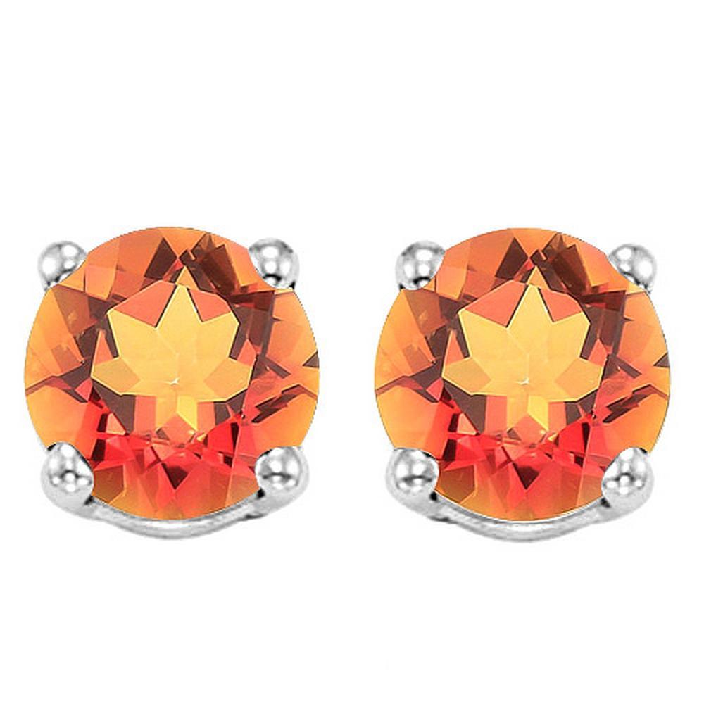 6MM Azotic Topaz Stud Earrings in Sterling Silver