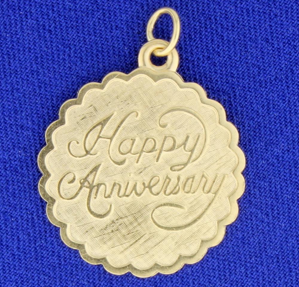 Anniversary Pendant in 14k Yellow Gold