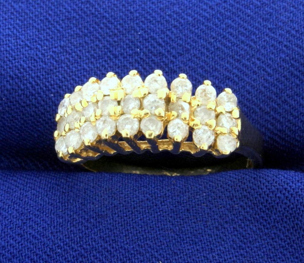 1ct TW Diamond Anniversary Ring in 14k Yellow Gold