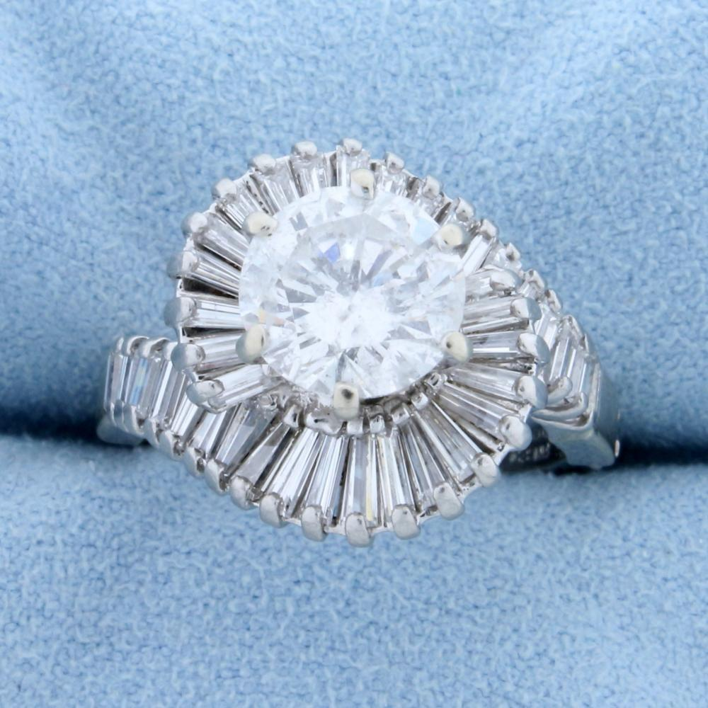Vintage 4ct TW Diamond Ring with Hinged Arthritic Shank