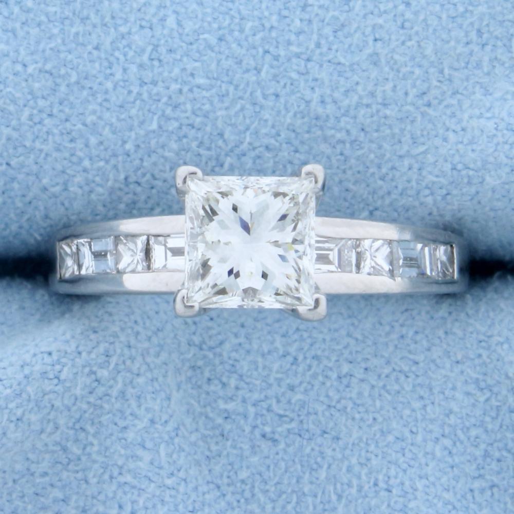 1.75ct TW Princess Diamond Engagement Ring in Platinum