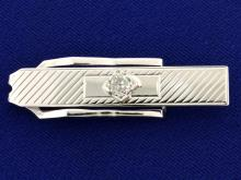 1/2ct Mine Cut Diamond Tie Clip