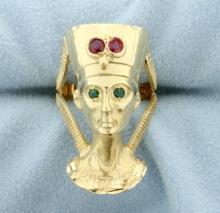 Egyptian Pharaoh Custom Made Ring
