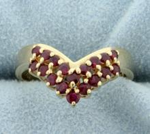 1/2ct Total Weight Ruby Ring