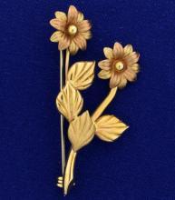 Italian Made Vintage Flower Pin