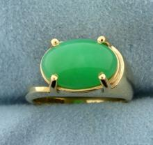 5ct Natural Jade Ring in 14k Gold