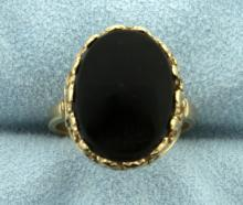 Vintage Onyx Ring in 10K Yellow Gold