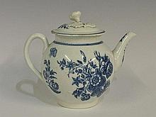 A Caughley globular shaped teapot and cover with