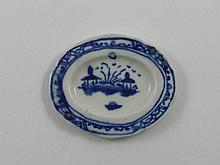 A rare Caughley ''Child's Service'' shaped oval
