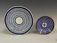 A Worcester Music pattern circular dish with royal