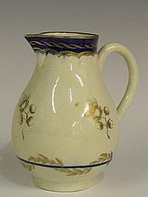 A Caughley ''Sparrow Beak'' jug with plain loop