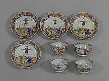 A set of four Chinese export porcelain teabowls