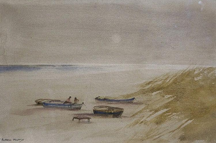 Francis Russell Flint - Boats By The Dunes,