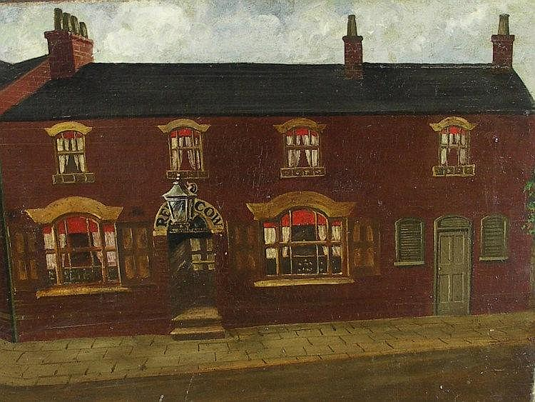 H. S. Glover - Red Cow Pub, oil on canvas, signed