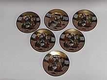 A set of six Japanese porcelain plates painted