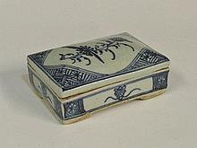 A mid 19th Century Chinese burial box the slightly