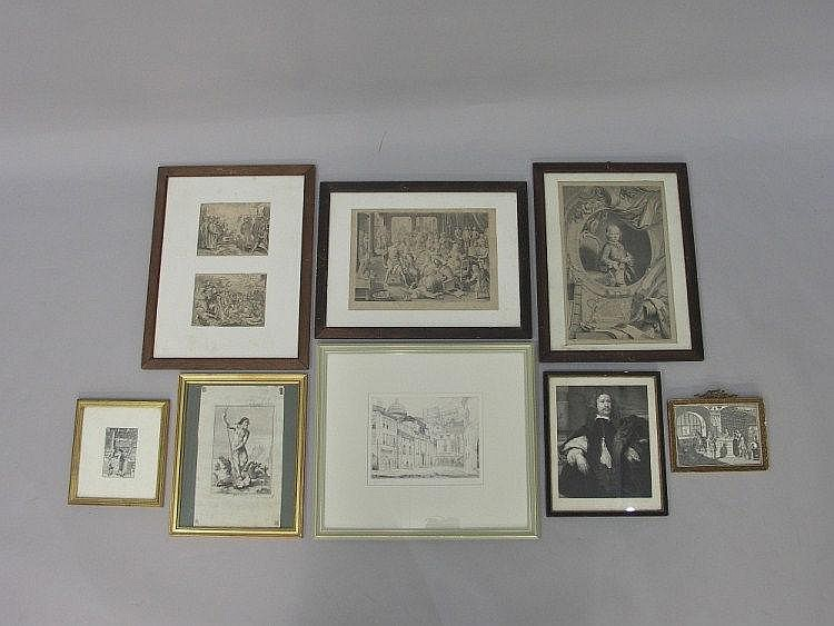 18th Century engravings after Bosch, Houbraken and