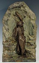 Lucien Charles Edouard Alliot (1877-1967) - La Source, cast as a semi-nude