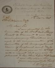Slavery, British & Foreign Anti-Slavery Society, autograph letter to Rev Al