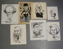 Williams, Glan, cartoonist  (1911 - 1986), original cartoons and caricature