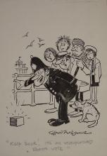 Williams, Glan, cartoonist  (1911 - 1986), original cartoon, c1970, KEEP BA