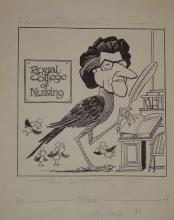 Williams, Glan, cartoonist  (1911 - 1986), original cartoon, c1970, Fancy P