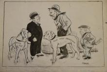 Williams, Glan, cartoonist  (1911 - 1986), original cartoon, c1930?, MACDON