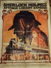 Cinema, French Language Poster, Sherlock Holmes Attaque L'Orient Express, 1