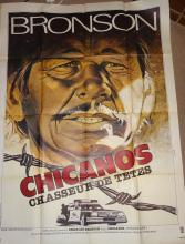 Cinema, French Language Poster, Chicanos, Chasseur de Tetes, 1981, Charles