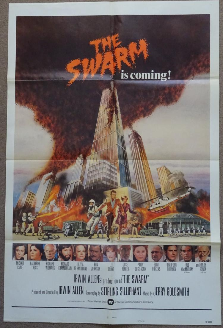 cinema poster the swarm 1978 medium size poster vg