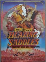 Cinema, French Language Poster, Blazing Saddles, small format lobby poster,